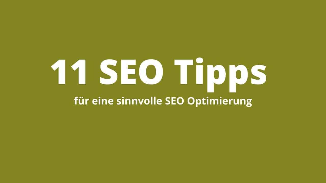 11 SEO Tipps Titelbild