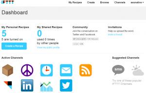 ifttt.com Dashboard