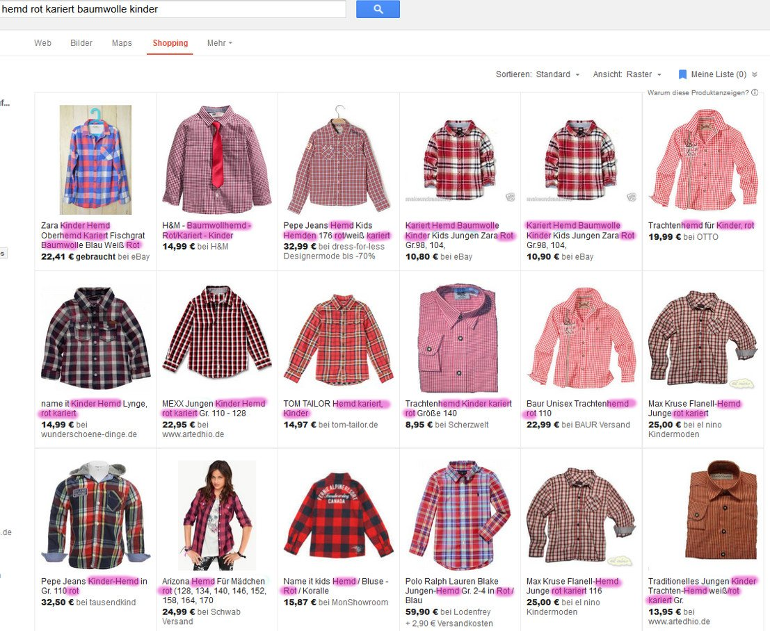 Google Shoppinganzeigen