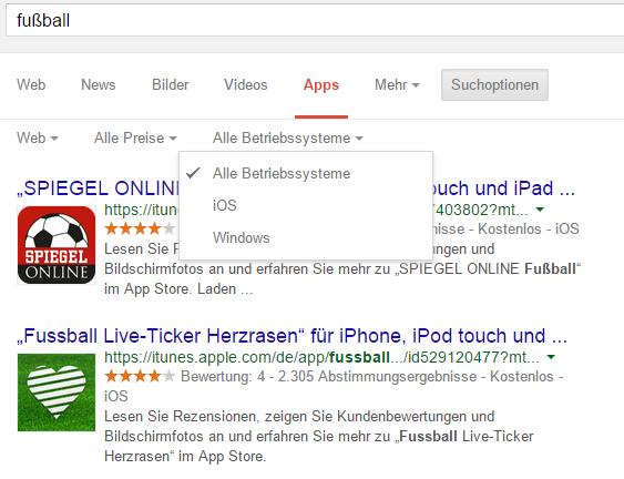 -sport - Google- App-Suche