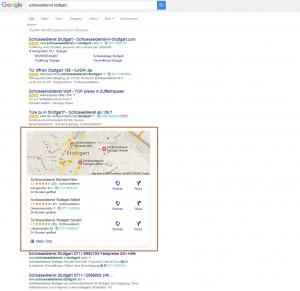 My Business Einträge auf der Google Ergebnisseite für einen optimalen Local SEO Auftrit
