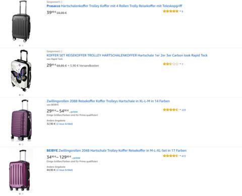 Suchergebnis auf Amazon de für hartschalenkoffer