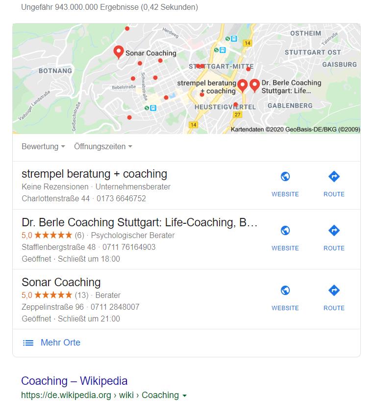 Google Suche ohne Standort