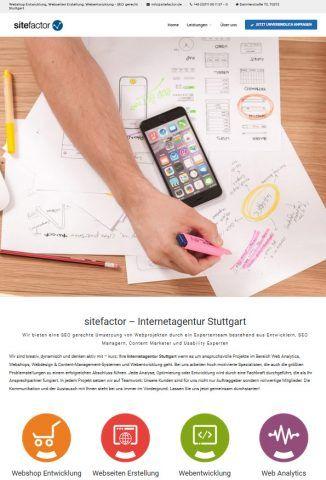 sitefactor Webseite