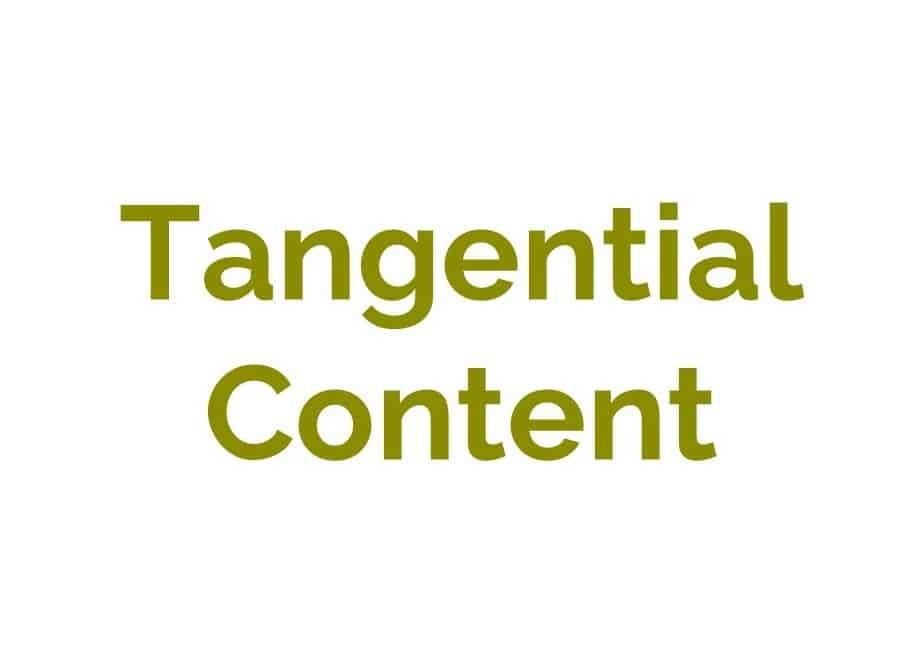 tangential-content in grüner Schrift auf weißen Hintergrund