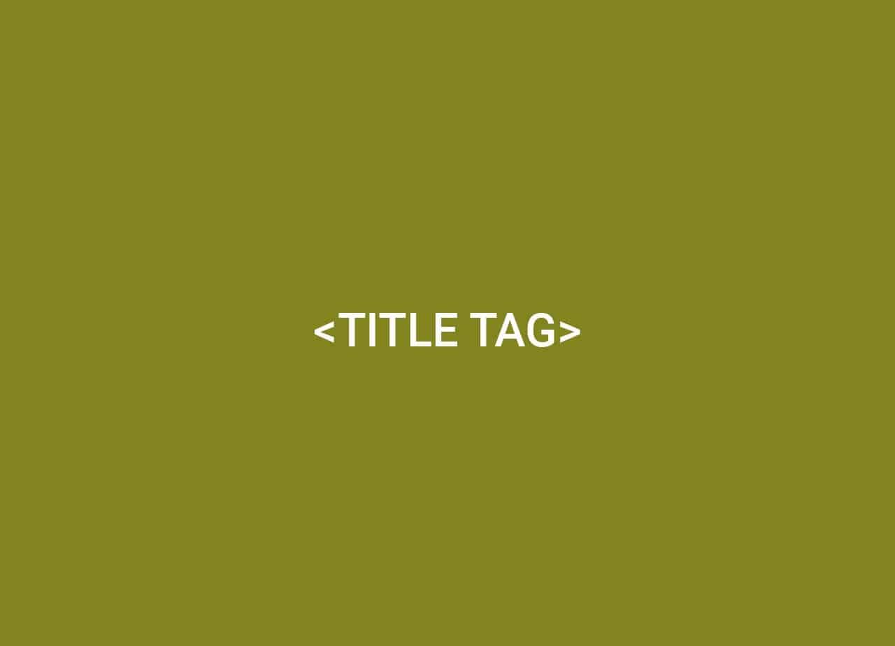 title tag in html auf grünem Hintergrund